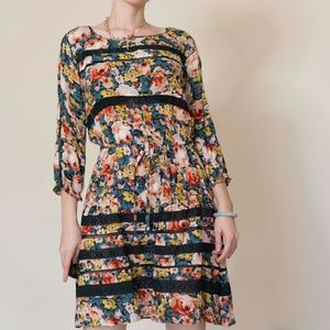 Anthropologie Floral Lace Dress